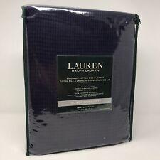 Ralph Lauren Silver Luxury Ringspun TWIN Navy Cotton Bed Blanket 66x90