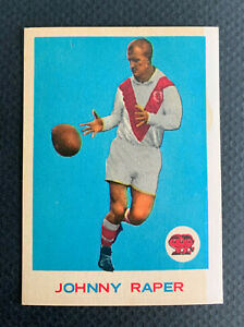 1964 RUGBY LEAGUE SCANLENS JOHNNY RAPER 32/33 CARD SET LEGEND DRAGONS NR MINT
