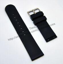 Comp. Welder K33 9301 / 9302 / 9303 - 23mm Black Rubber Watch Band Strap