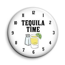 Tequila Time Funny Drinking Cute Novelty Button Fridge Magnet - 38mm/1.5 inch