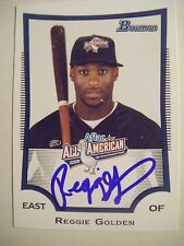 REGGIE GOLDEN signed CUBS 2009 Bowman AFLAC-RG baseball card AUTO WETUMPKA AL HS