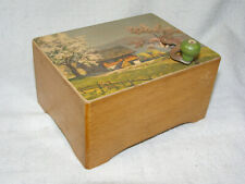 Antique Wind Up 2 Song Swiss Music Box