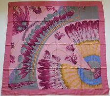 Authentique Hermes soie Dip Dye Châle Brésil 140x140cm Couleur Rose Moyen-Rare!