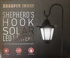 Sharper Image Shepherd'S Hook Solar Led Lantern Easy To Install