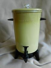 Vintage Electric Percolator Mirro-Matic Harvest Gold Yellow 22 cup coffee pot