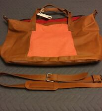 Nena & Co One Of A Kind Brown Leather Weekender Bag