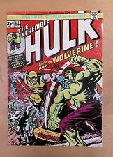 More details for the incredible hulk wolverine comic cover nov 1974 a4 metal flyer