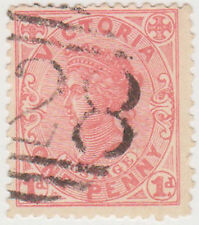 (T20-70) 1901 VIC 1d red QVIC PO cancel 28 (B)
