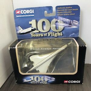 AUTHENTIC VINTAGE CORGI 100 YEARS OF FLIGHT CONCORDE CS90280 BRITISH AIRWAYS