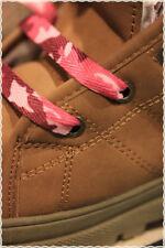 Coppia Stringhe per scarpe colori Fashion MILITARE ROSA 115 cm * shoes strings