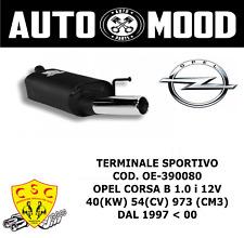 TERMINALE SPORTIVO CSC OE-390080 - OPEL CORSA B 40(KW) 54(CV) 1997