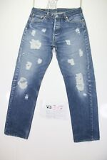 Levis 501 Customized ( Cod. WB317) tg.48 W34 L34 Jeans Remake Ripped Destroy