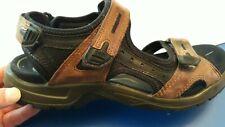 ECCO Mens Yucatan Receptor Brown Leather Sport Sandals 44 EU 10 - 10.5 US