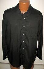Vintage Sears Roebuck & Co SHEER BLACK Dress Shirt 17-1/2 34/35 COTTON BLEND