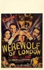 WEREWOLF OF LONDON Movie POSTER 27x40 B Henry Hull Warner Oland Valerie Hobson