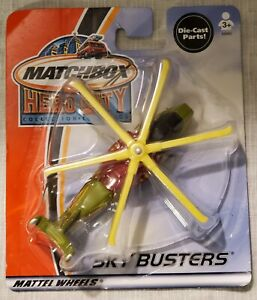 2002 Matchbox Hero-City Sky Busters Military Helicopter Moc