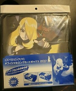 NEW AND SEALED LARGE POKEMON CENTER ORIGINAL CYNTHIA AND GARCHOMP DECK BOX