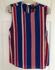 & Other Stories Stockholm Atelier Red White Blue Deckchair Stripe Sleeveless Top