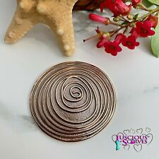 MAGNETIC BROOCH SCARF PIN CLIP,  ROSE GOLD & BROWN BRONZE SWIRL DESIGN