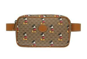NEW GUCCI OPHIDIA GG SUPREME MICKEY MOUSE DISNEY LOGO BELT BAG  90/36