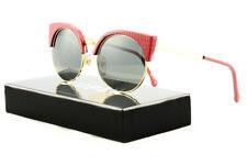 RETROSUPERFUTURE Super Ilaria Womens Sunglasses SU924 Red Lizard Genuine Leather