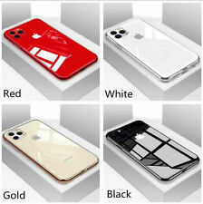 For iPhone 12 11 Pro XS Max XR 8 7 Luxury Hybrid Tempered Glass Phone Case Cover