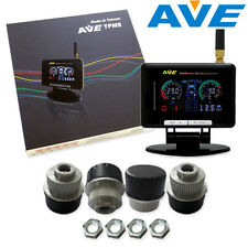 AVE Universal Wireless TPMS 4 External Sensors w LCD Display Easy and Quick DIY