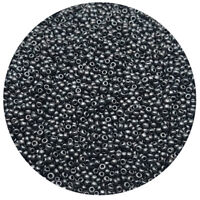 Lot of 2500pcs DIY 11/0 Rocaille 1.8mm Small Round Glass Seed Beads Black gall