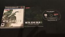 Metal Gear Solid 3 Play Station 2 PS2 PAL ESPAÑOL