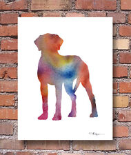 Rhodesian Ridgeback Contemporary Watercolor Abstract Art Print by Artist Djr