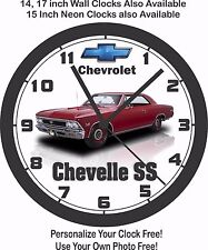 1966 CHEVROLET CHEVELLE SS WALL CLOCK-FREE USA SHIP!