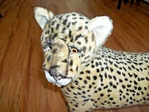 Colossal, Stuffed Leopard, Signed Yomiko, by Russ Berrie