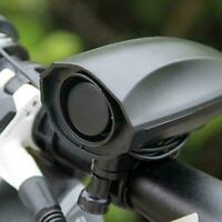Ultra-loud Black Speaker Electronic Bicycle 6 Sounds Horn Bells Alarm Bike T2F8