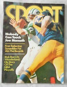 Joe Namath New York Jets November 1975 SPORT Magazine