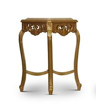 Fongère, French Style , Hand Carved , Gold Leaf , Marble Top , Table