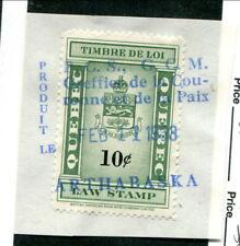 Used Quebec Law Stamp #QL109 (Lot #13616)