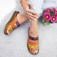 Women Chic Three-color Stitching Sandals Original-Quality Flat Sandals