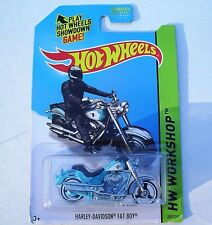 2014 Hot Wheels. Harley-Davidson Fat Boy . HW Workshop 209/250. New in Package!
