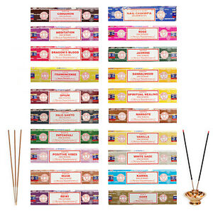15g Sticks Incense Satya Nag Champa Joss Genuine Incense Scents 3 or 12 Pack