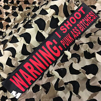 NEW KM Paintball Padded Tying Headband Head Band - Warning
