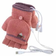 Men's Women's USB Heated Gloves Mitten, USB Hand Warmers Winter Warm Full Finger