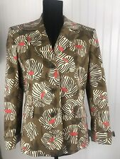 EVAN PICONE Womens Patterned blazer jacket business career Size 12 Lined