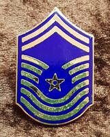 USAF US Air Force Chief Master Sergeant Rank Insignia Pin Badge