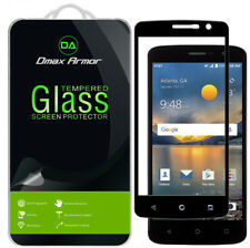 Dmax Armor ZTE Blade Spark Tempered Glass Full Cover Screen Protector -Black