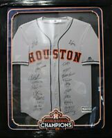 VERLANDER SIGNED HOUSTON ASTROS TEAM JERSEY FRAMED WORLD SERIES 2017 TRISTAR 22