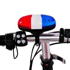 Bicycle Bell 6LED Horn Police Car LED Bike Light Siren For Electric Scooter Bike