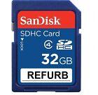 Sandisk 32GB Class 4 SD SDHC Secure Digital Flash Memory Card Refurb