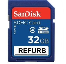 Sandisk 32GB Class 4 SD SDHC Secure Digital Flash Memory Card Refurb