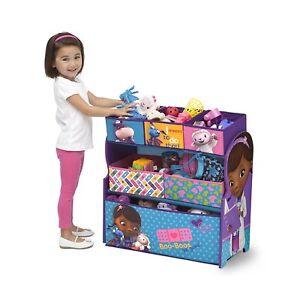 Character Toy Organiser Kids Bedroom Storage Metal Frame Multi Bin Playroom Box