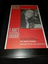 Danny Wilde I Ain't Good Enough Rare Original Radio Promo Poster Ad Framed!